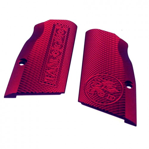 Tanfoglio: Red Aluminum Grips Large Frame with Magwell (X016)-0