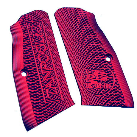 Tanfoglio: Red Aluminum Grips Small Frame with Magwell (X016)-0