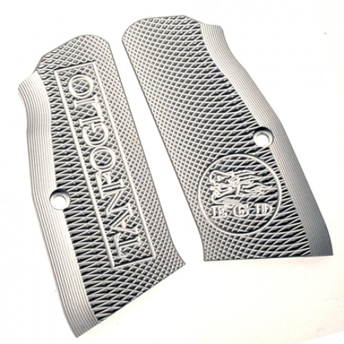 Tanfoglio: Silver Aluminum Grips Small Frame with out Magwell (X017)-0