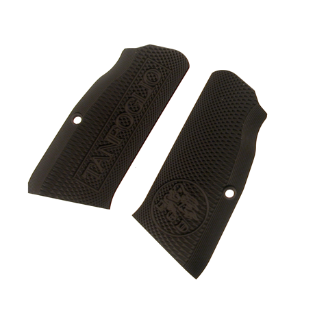 Tanfoglio: Black Aluminum Grips Large Frame with out Magwell (X015)-0