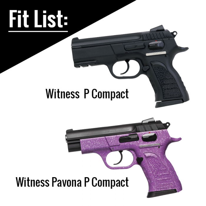 Witness Compact Small Frame Holster Fit List