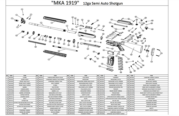 mka1919 Parts Explosion